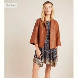 NWT ANTHROPOLOGIE Hayden Faux Leather Jacket SZ M